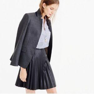 J. Crew Faux Leather Pleated Mini Skirt